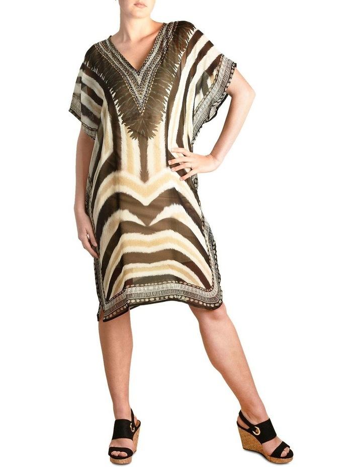 5-7853 Tribal Zebra Kaftan image 1