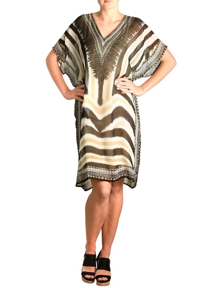 5-7853 Tribal Zebra Kaftan image 2