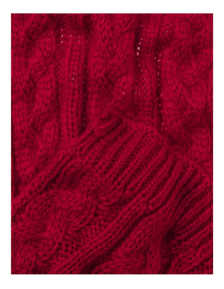 Cable Knit Scarf KA-2257S image 2
