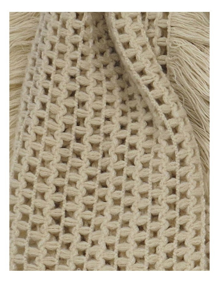 SC257 Sally Crochet Fringed Scarf image 2