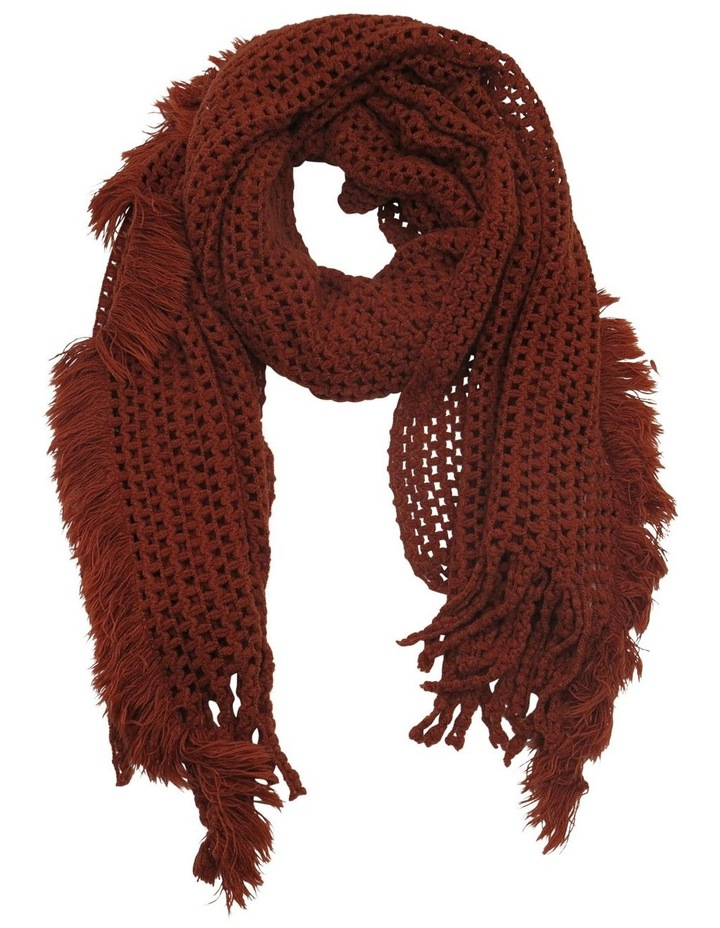 SC257 Sally Crochet Fringed Scarf image 1