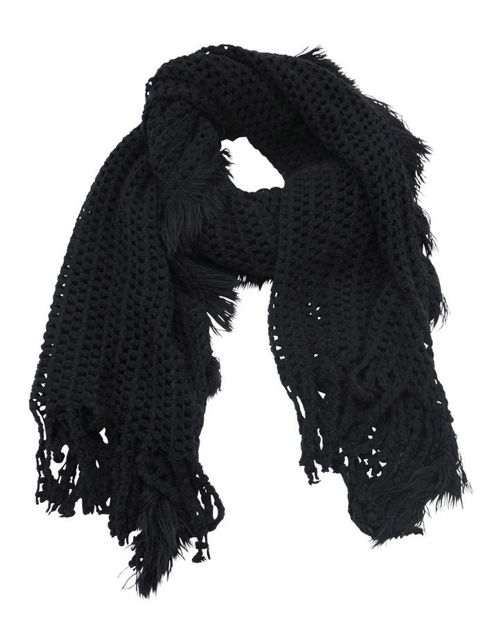 SC257 Sally Crochet Fringed Scarf image 1