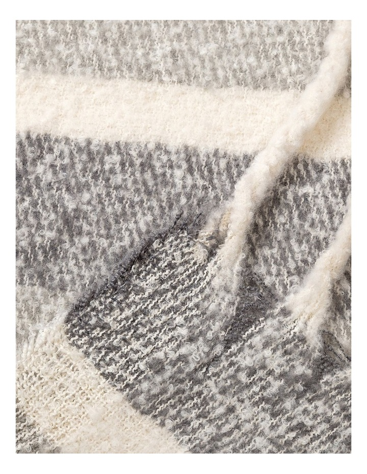 GNKQ119M Stripe Chunky Scarf image 2