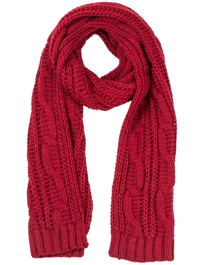 GNKQ124M Cable Knit Scarf image 1