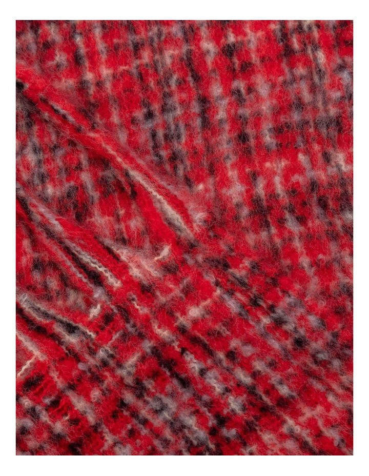GNKS041M Boucle Check Pink Winter Scarf image 2