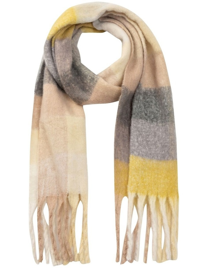 GNKS068M Fuzzy Check With Yellow Winter Scarf image 1