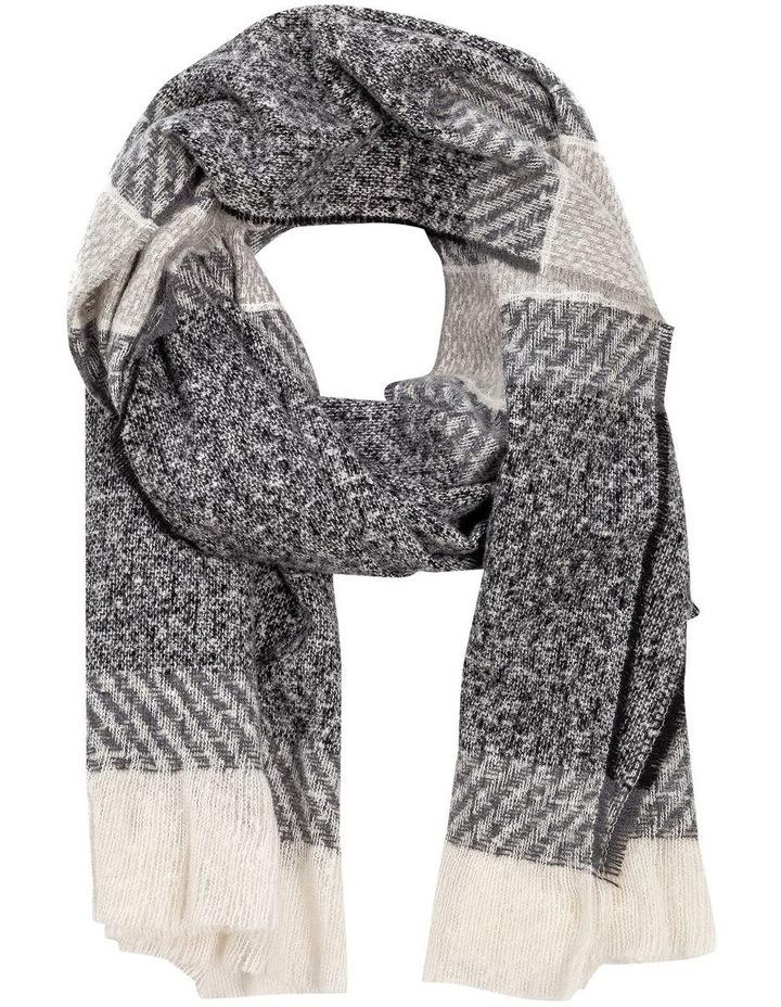 GNKS095M Grey Stripe Winter Scarf image 1