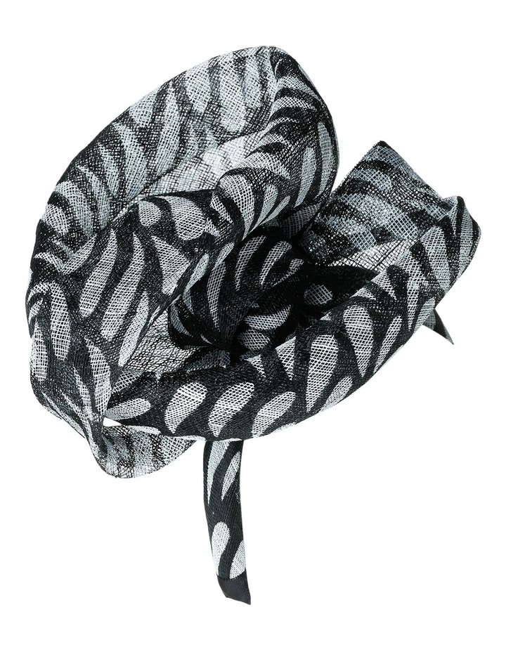 Abstract Style Rolled Sinamay Fascinator image 2
