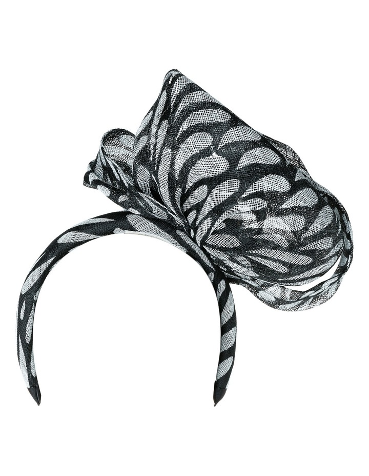 Abstract Style Rolled Sinamay Fascinator image 3