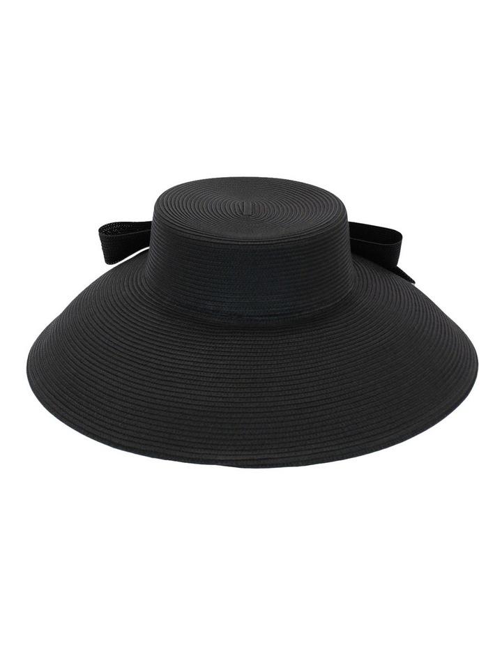 Droop Bow Black Brim Hat image 2