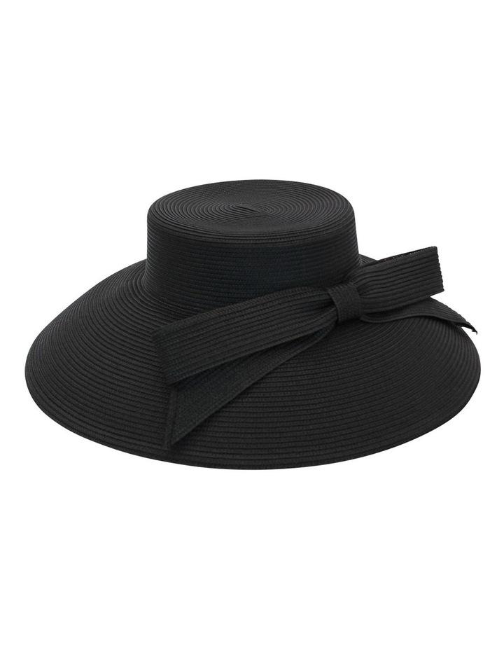 Droop Bow Black Brim Hat image 3
