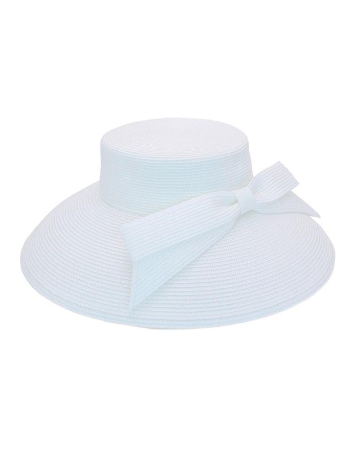 Droop Bow White Brim Hat image 3