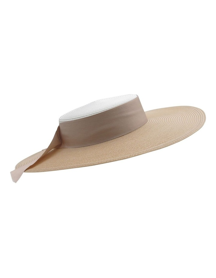 Contrast Two Tone Wide Brim Boater image 1