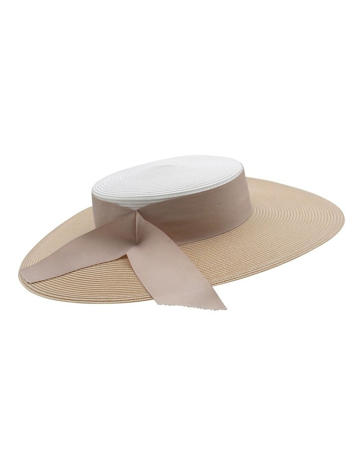 Contrast Two Tone Wide Brim Boater image 2