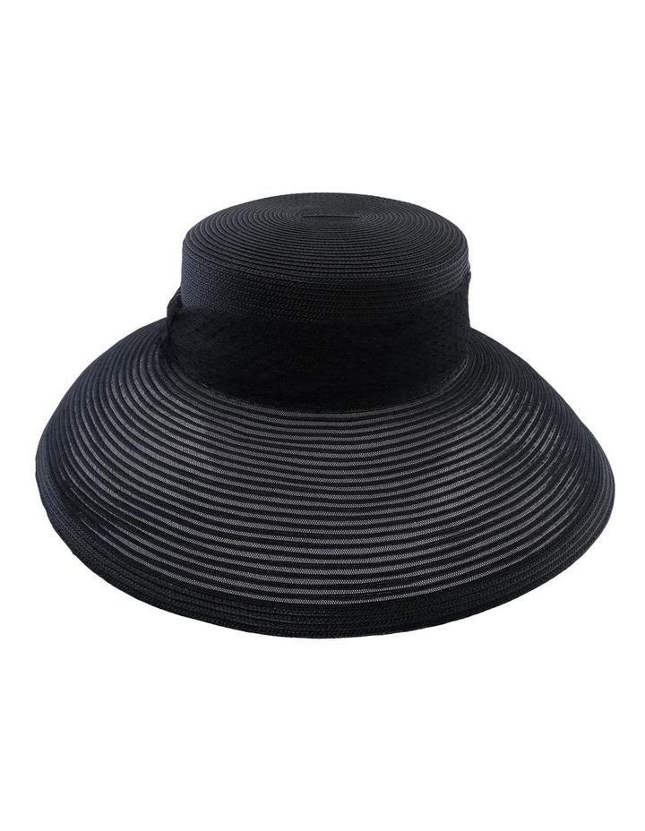 Large Brim Hat W Veiling image 1
