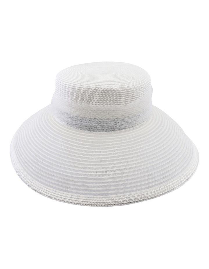 Large Brim Hat W Veiling image 2