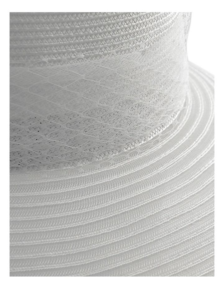 Large Brim Hat W Veiling image 3