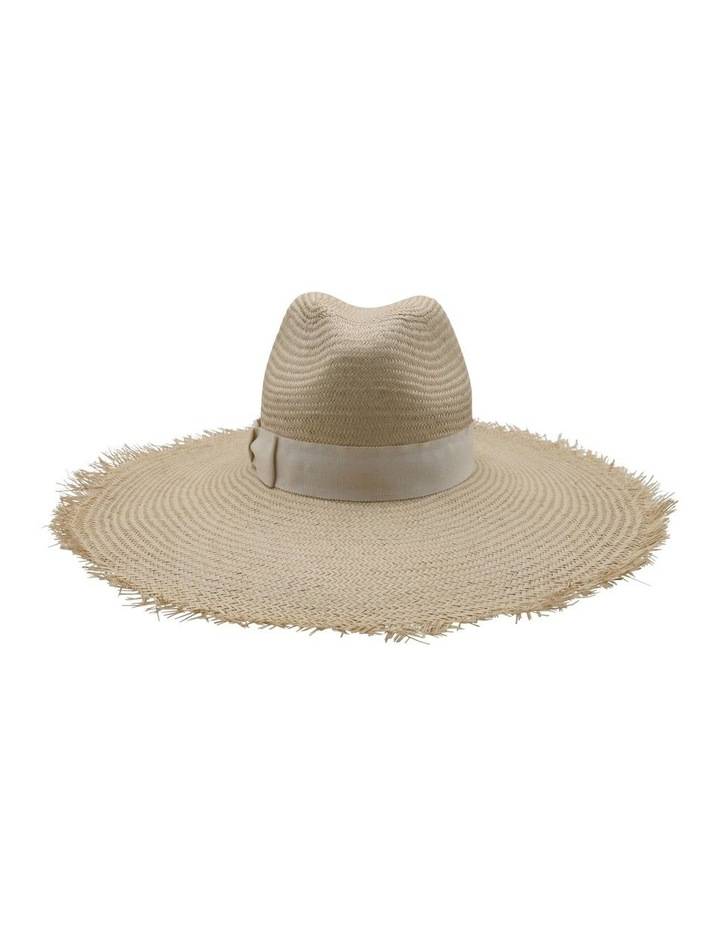 Frayed Edge Straw Fedora image 1