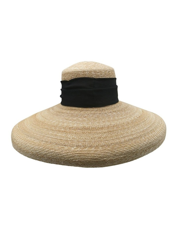 Straw Pot Hat With Scarf image 1