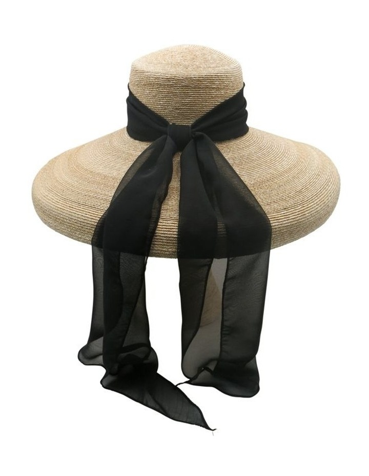 Straw Pot Hat With Scarf image 2