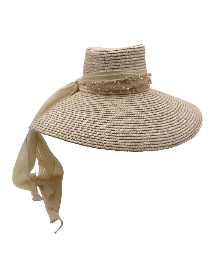 Straw Hat With Jewelled Scarf image 1