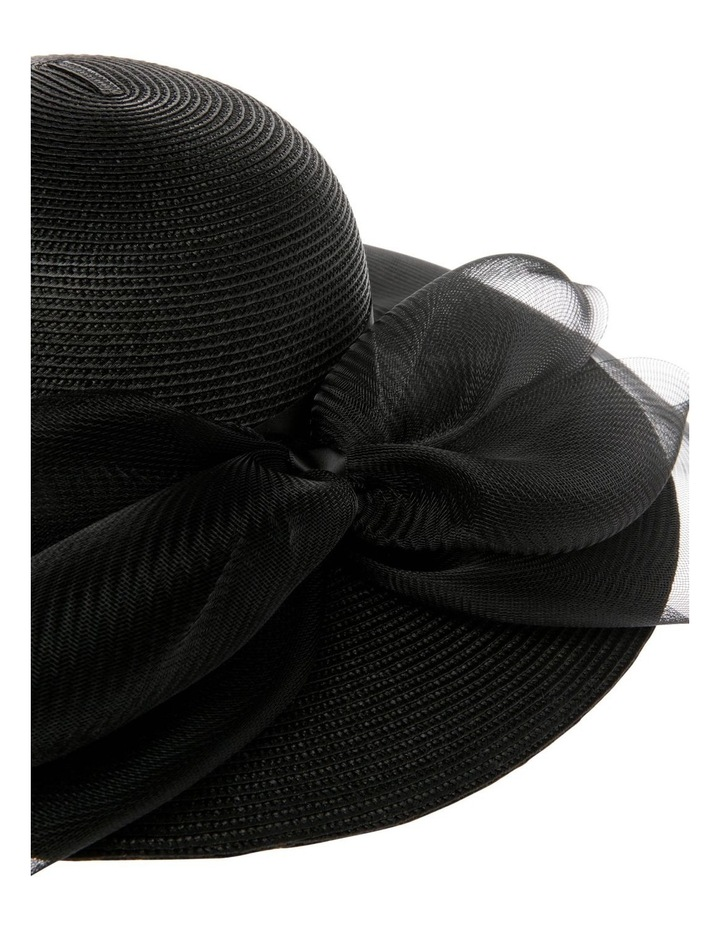 Hat With Mesh Overlay and Back Bow image 4