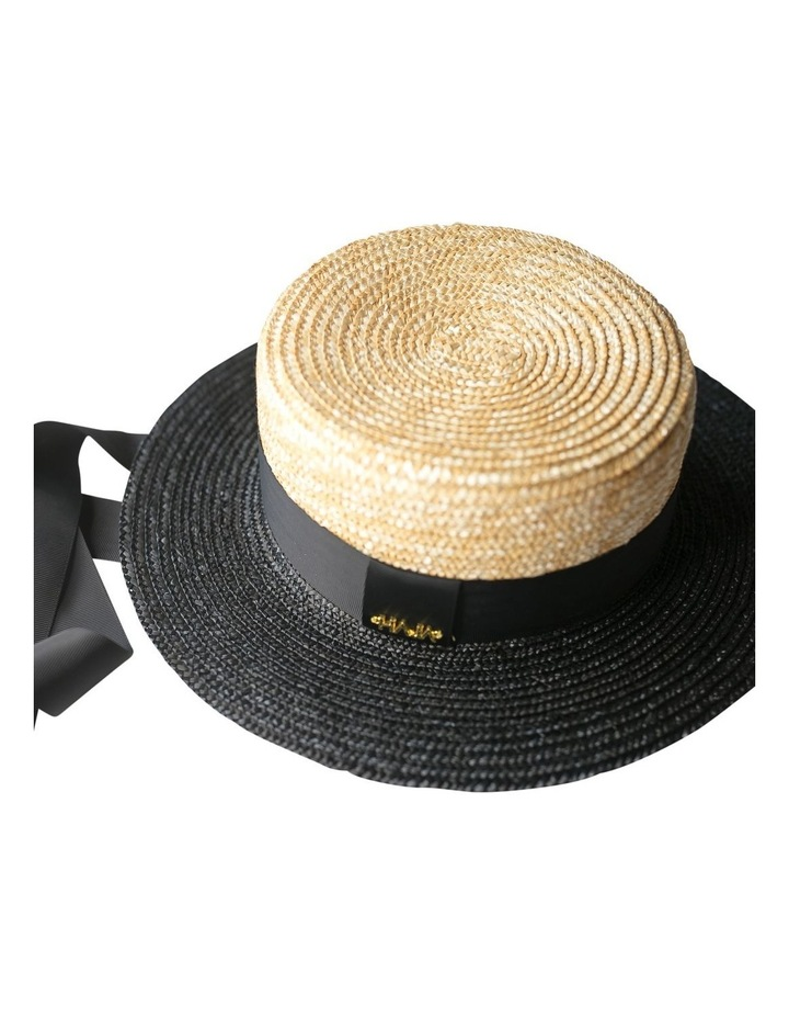 Two Tone Boater Hat image 1