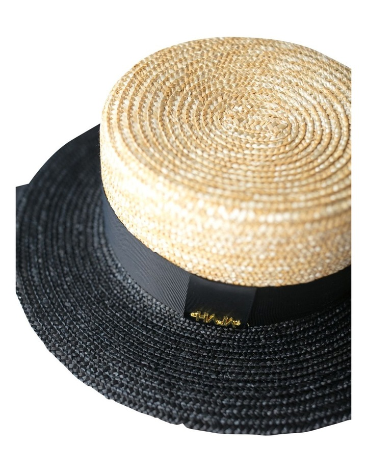 Two Tone Boater Hat image 2