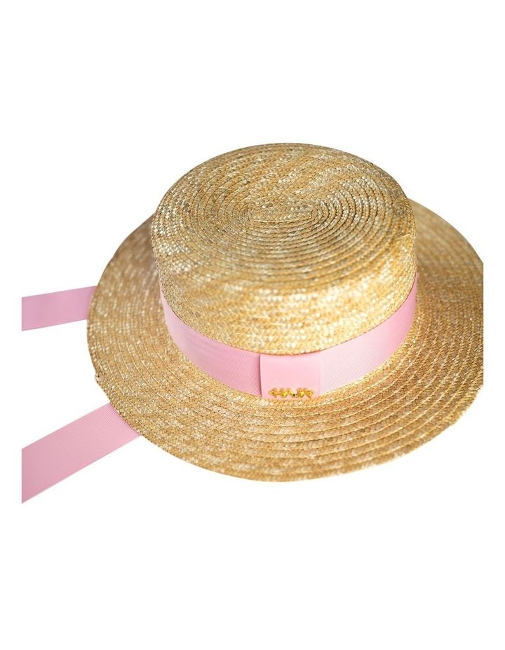 Boater Hat With Pink Ribbon image 3