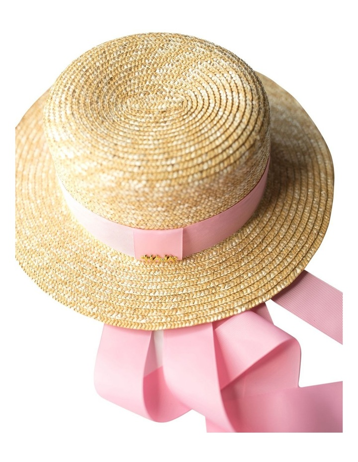 Boater Hat With Pink Ribbon image 6
