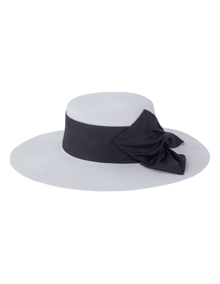 Wide Brim Boater With Flat Bow Detail Racewear Hat image 1