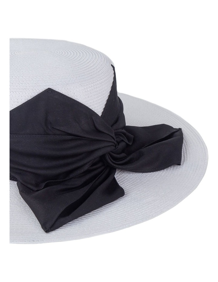 Wide Brim Boater With Flat Bow Detail Racewear Hat image 2
