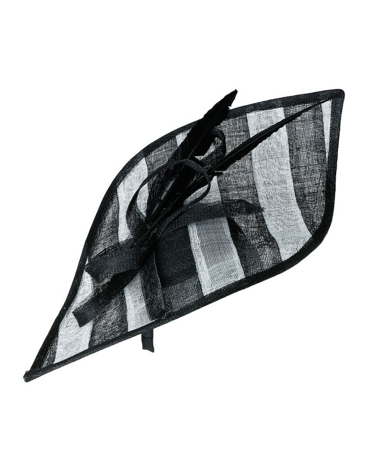 Oversize Striped Leaf with Loop and Feather Trim image 2