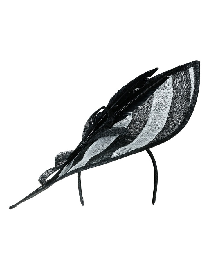 Oversize Striped Leaf with Loop and Feather Trim image 1