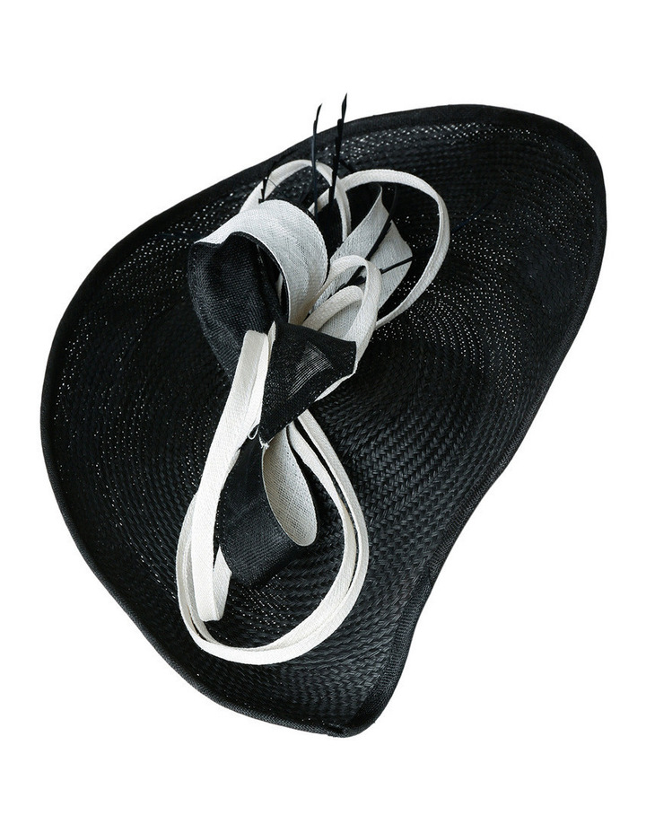 Buntal Oval with Pointed End and Contrast Loops  Curls and Feather image 2