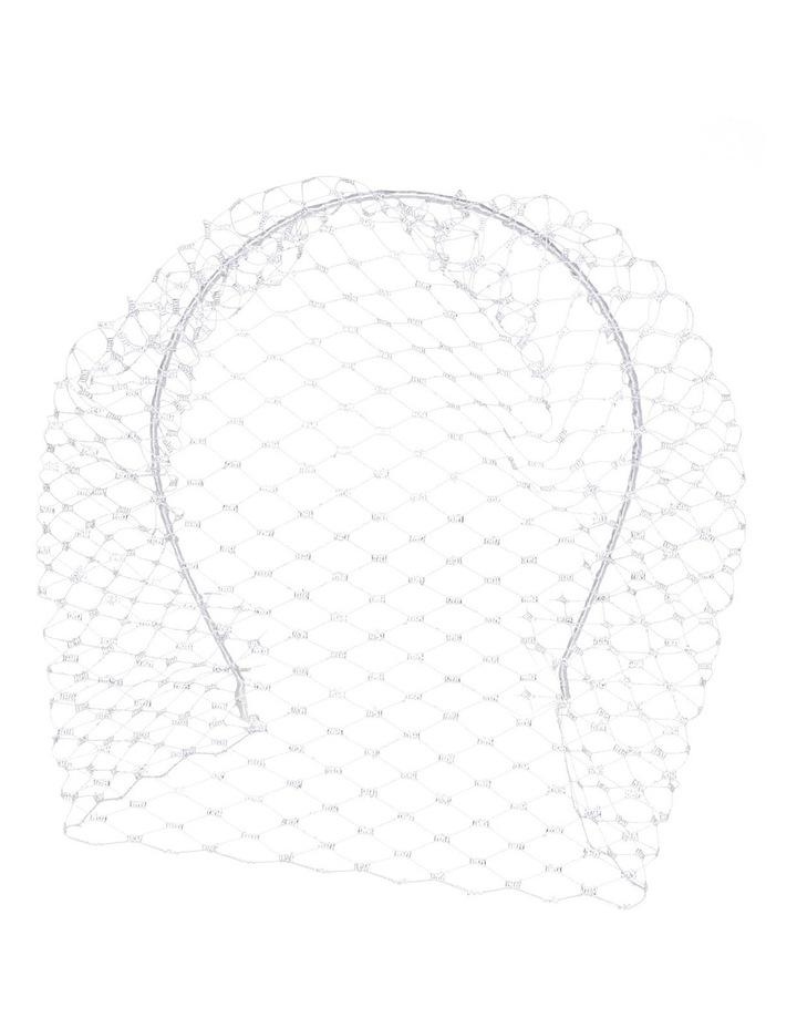 Silver Veiling on Headband image 1