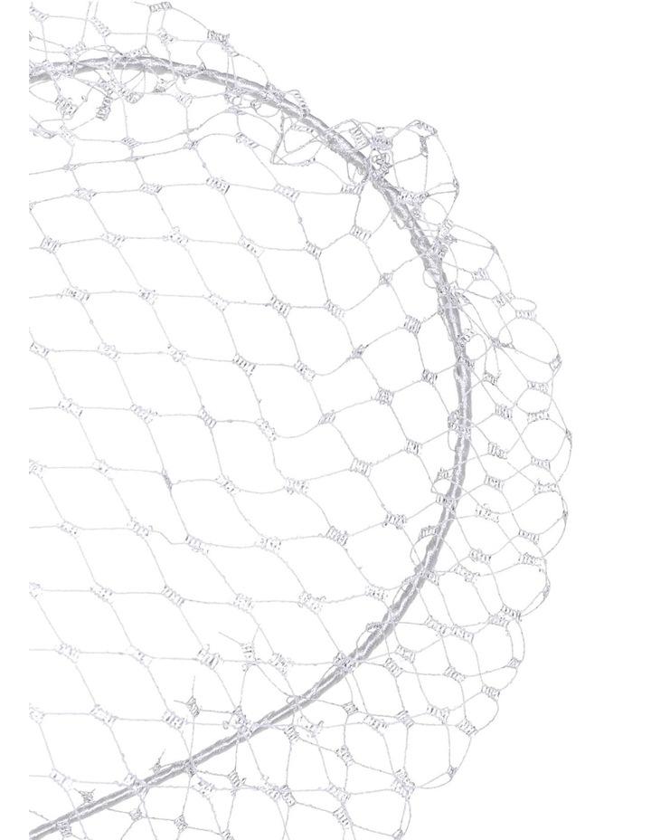 Silver Veiling on Headband image 3