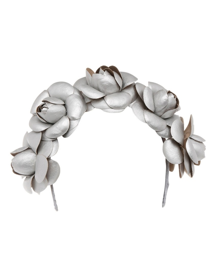 Faux Leather Flower Crown Headband image 1