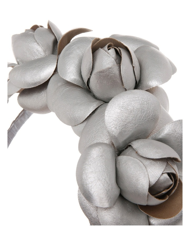 Faux Leather Flower Crown Headband image 3