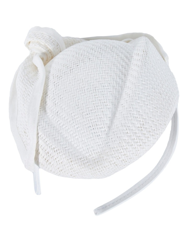 White Stewardess Pillbox With Bow On The Headband image 1