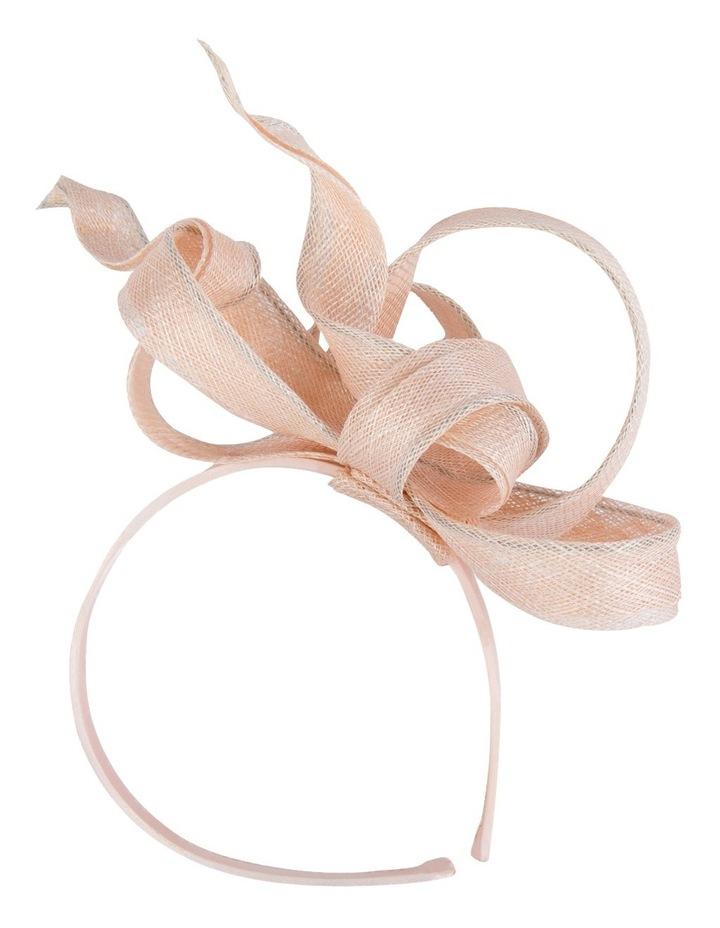Beige Sinamay Flame-Like Loops On The Headband image 1