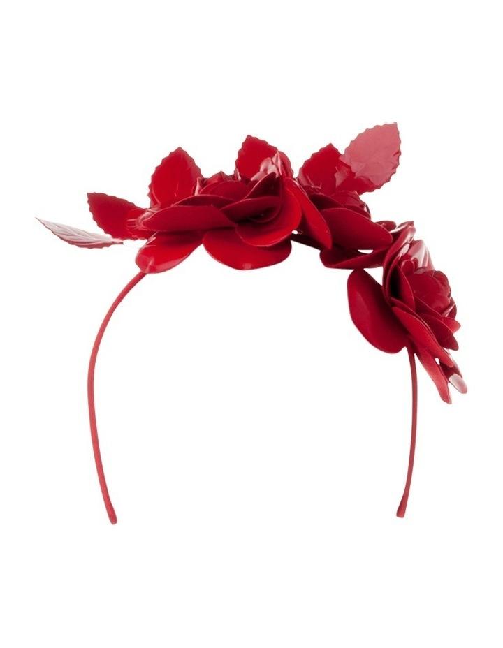 Alicia Patent Floral Headband image 1