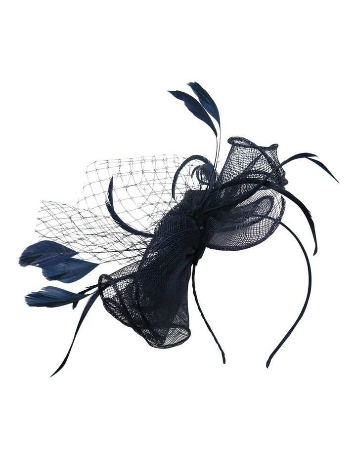COL13 Sinamay Ruffle Trim With Sin Rosette & Feathers image 1