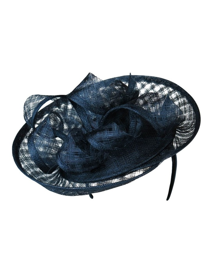 Sinamay Plate With Check Loops And Edge Fascinator FF103 image 1