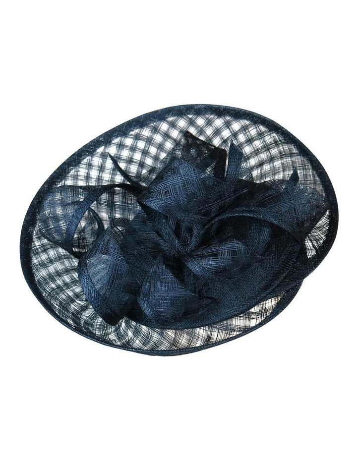 Sinamay Plate With Check Loops And Edge Fascinator FF103 image 2