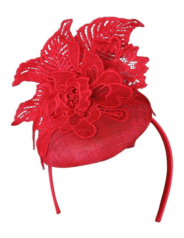 Sinamay Beret With Lace Fascinator FS182 image 1