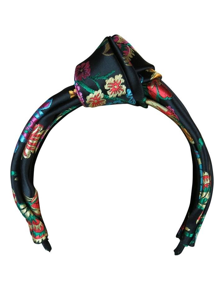 Satin Brocade Knot Turban On Headband image 6