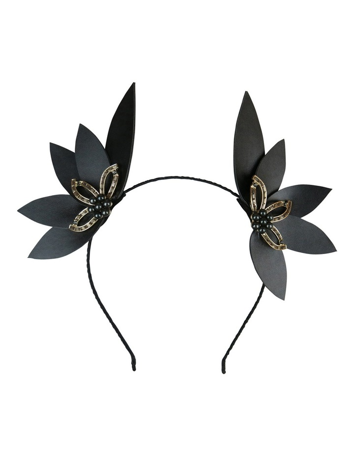 Pu Leaves Ears With Diamante And Pearl Jewel image 1
