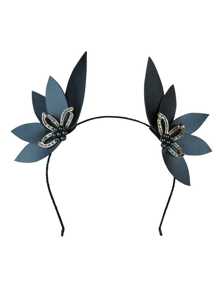 Pu Leaves Ears With Diamante And Pearl Jewel image 2