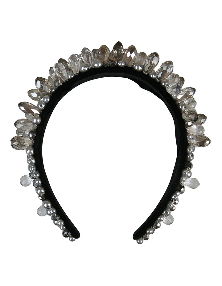 Silver Gems And Pearls On Baroque Headband image 1